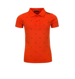 Common Heroes PHILP POLO with AO logo print MANDERIN