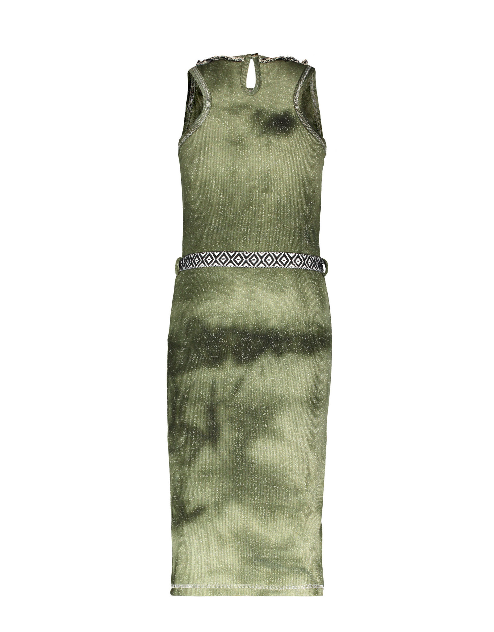 Like Flo Flo girls waffle bleach maxi singlet dress 355 Army