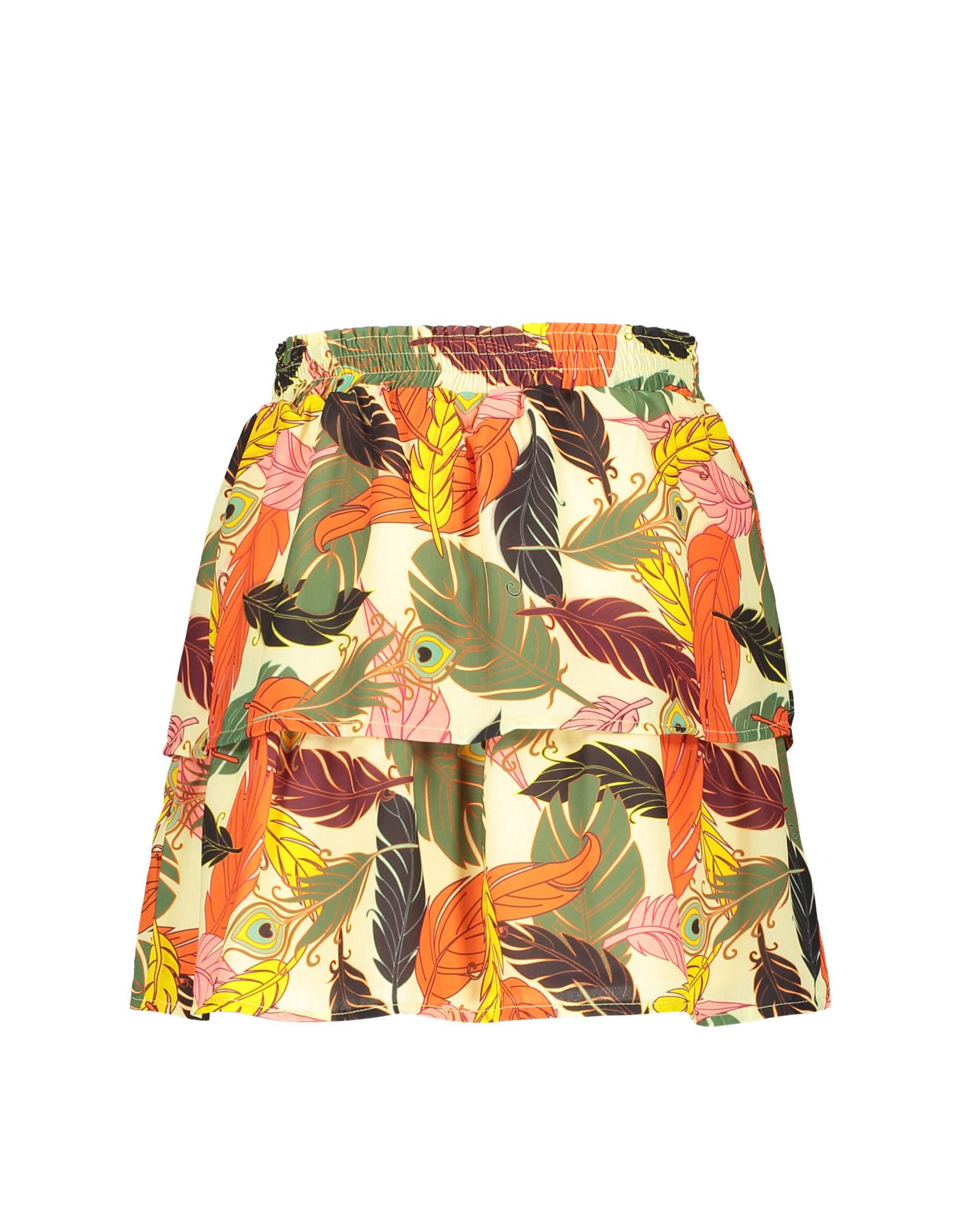 Like Flo Flo girls AO woven 2 layer skirt + belt 930 Feather