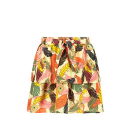 Like Flo Flo girls AO woven 2 layer skirt + belt 930 Feather