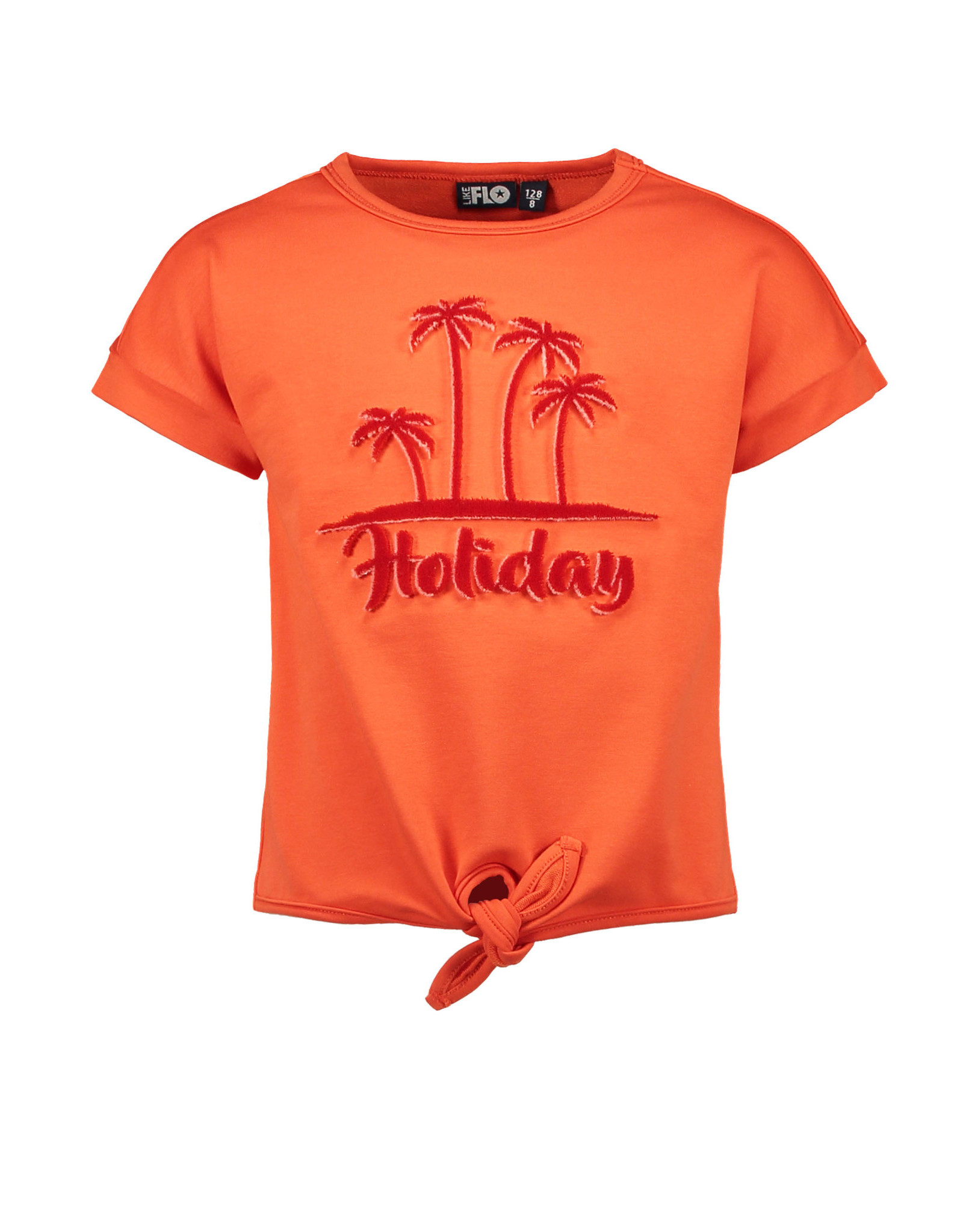 Like Flo Flo girls lt sweat knotted ss sweater 273 Orange