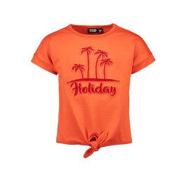 Like Flo Flo girls lt sweat knotted ss sweater 273 Orange