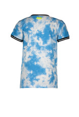 B-nosy Boys short sleeve tie dye shirt with chest artwork 079 Tie dye surf blue