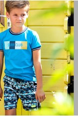 B-nosy Boys t-shirt with multicolor chest print 139 Surf blue
