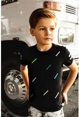 B-nosy Boys short sleeve with multicolor body stripe print 099 Black