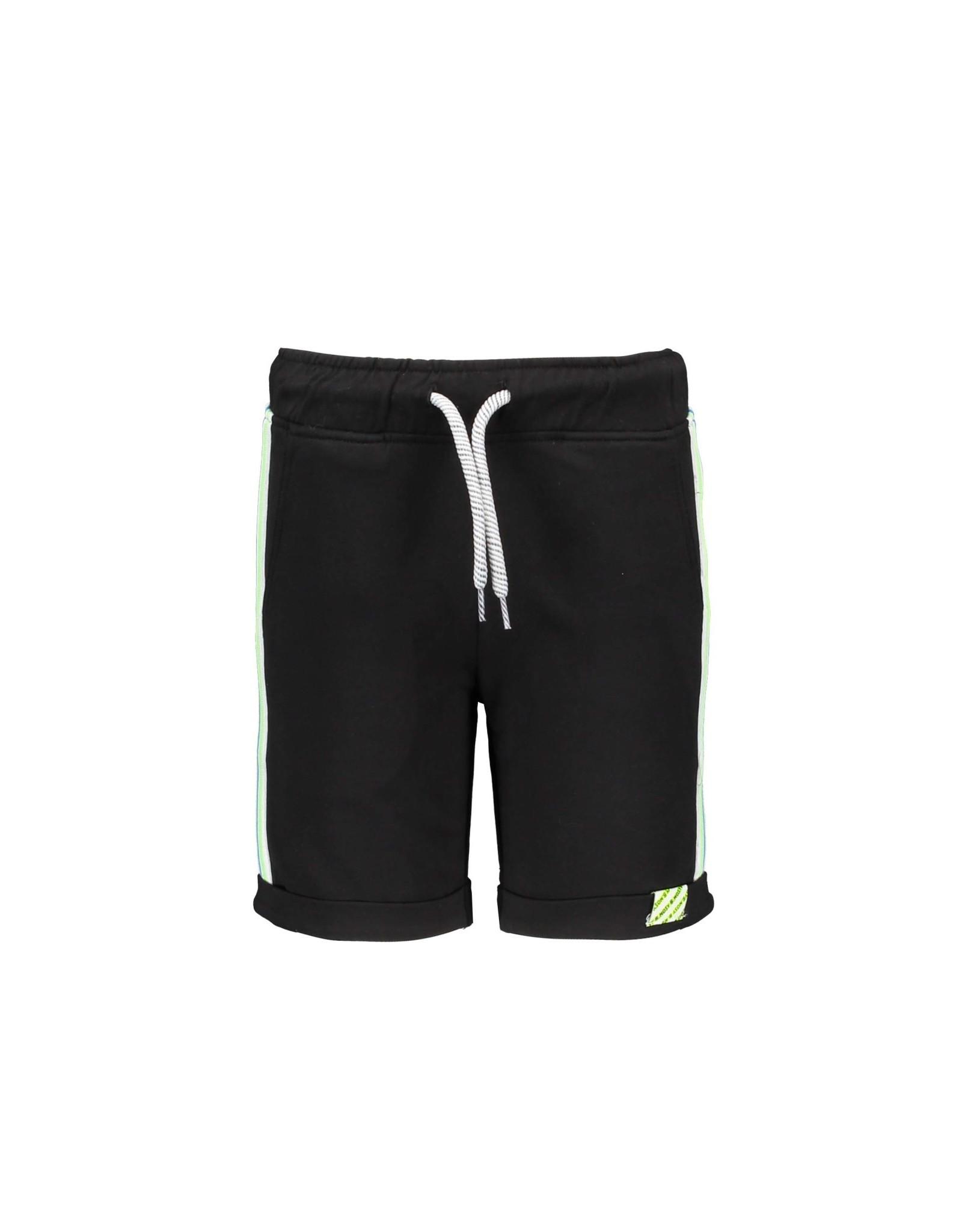 B-nosy Boys sweat shorts with multicolor rib at hem 099 Black