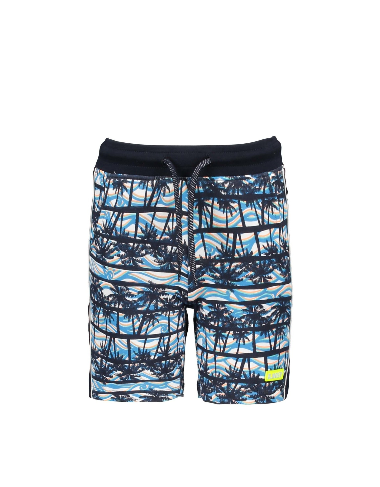 B-nosy Boys shorts with palm ao and tape on  sideseams 068 On the beach ao