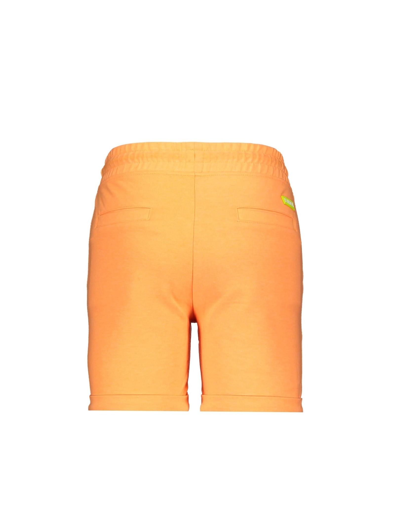 B-nosy Baby boys uni short with embro above folded hem 526 Neon orange