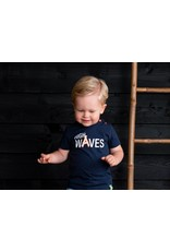 B-nosy Baby boys t-shirt with print artwork on chest 129 Oxford blue