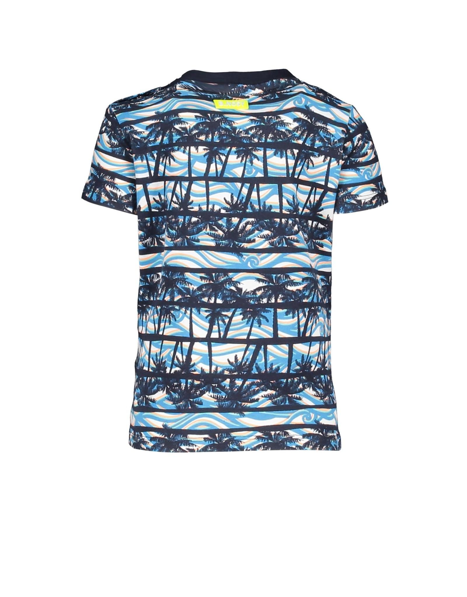 B-nosy Baby boys palm ao t-shirt with chest artwork On the beach ao