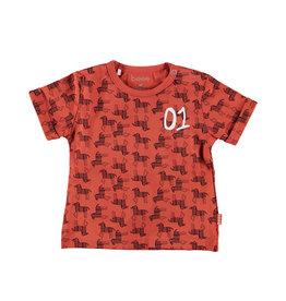 BESS Shirt sh.sl. AOP Zebra Rusty