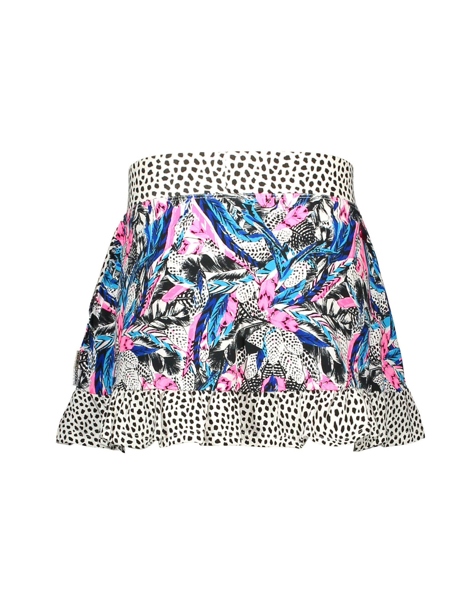 B-nosy Girls skirt with contrast ruffle 037 Fash feathers