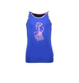 B-nosy Girls tanktop with contrast binding 183 Cobalt blue