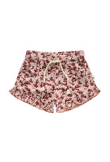 Your Wishes Floral | Ruffle Shorts Peach