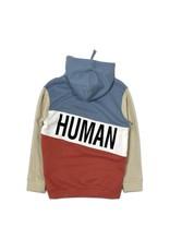 COS I SAID SO Happy Human Color Block Hoodie