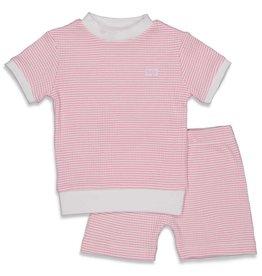 Feetje Pyjama kort wafel Roze NOS