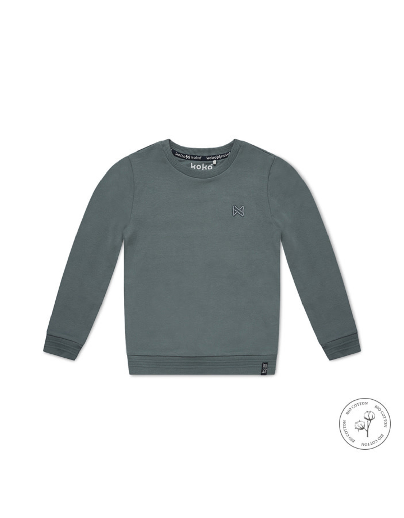 Koko Noko Boys Neill sweater ls Bio Cotton Faded green NOS