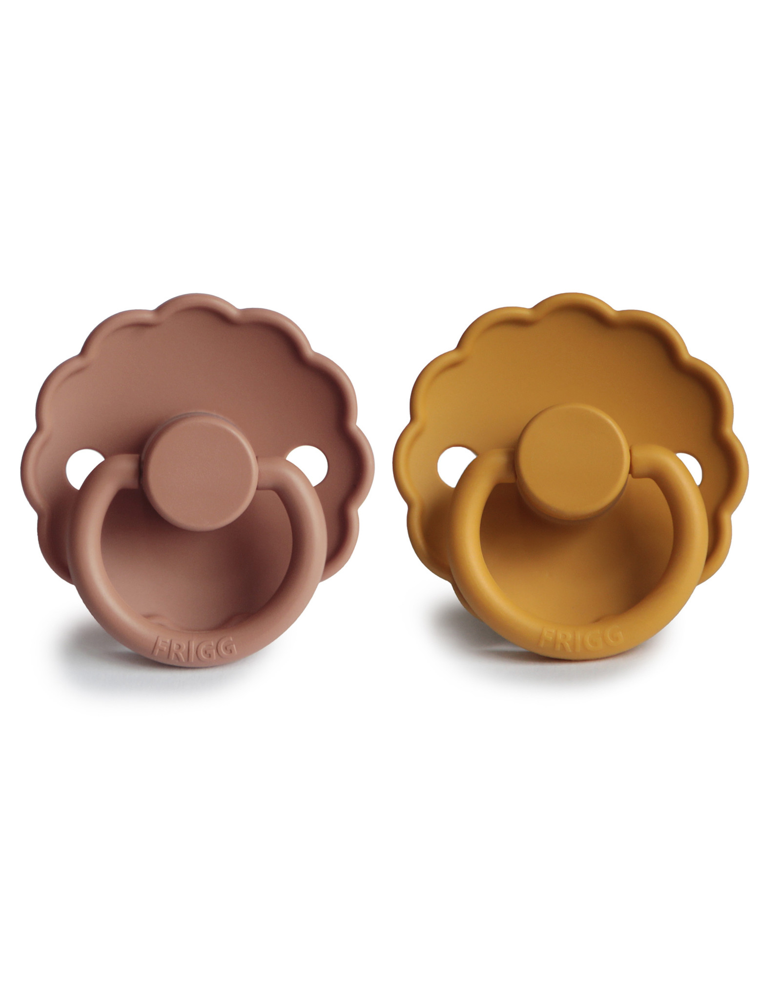 Frigg Fopspeen Daisy 2-pack Silicone Honey Gold/Rose T2