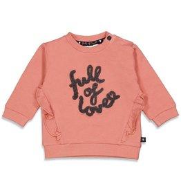 Feetje Sweater - Full Of Love Terra Pink