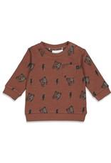 Feetje Sweater AOP - Wild Thing Bruin
