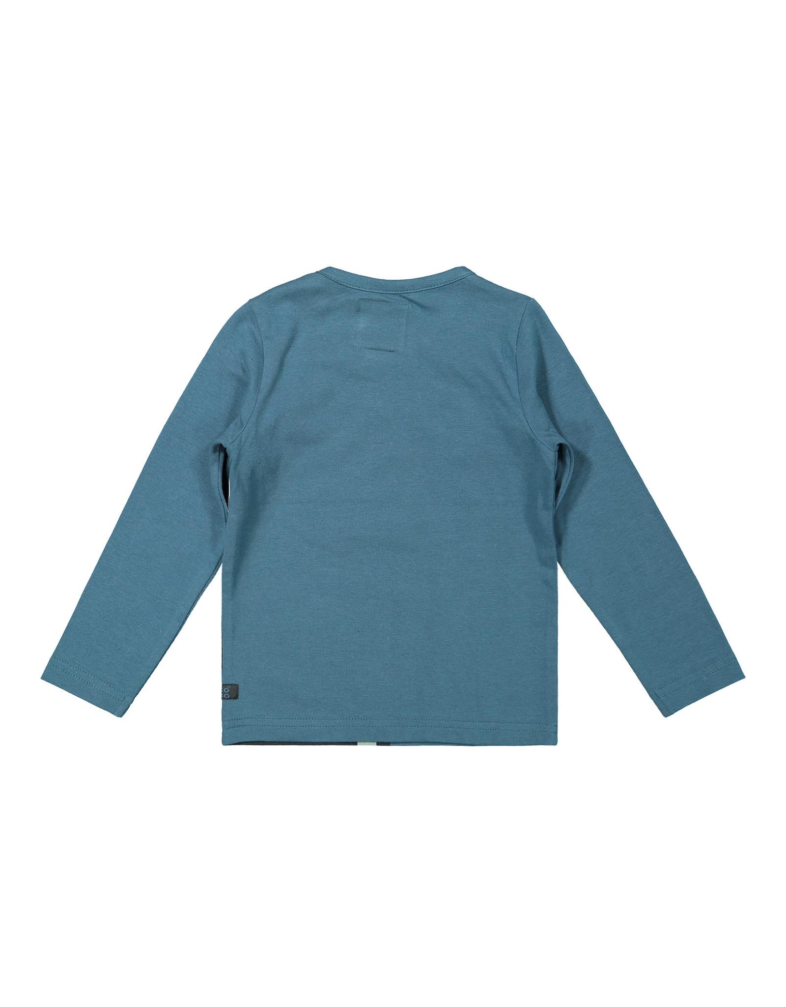Koko Noko Boys T-shirt ls Petrol + dark grey