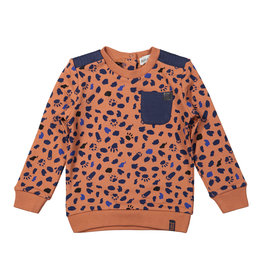 Koko Noko Boys Sweater ls Camel + navy