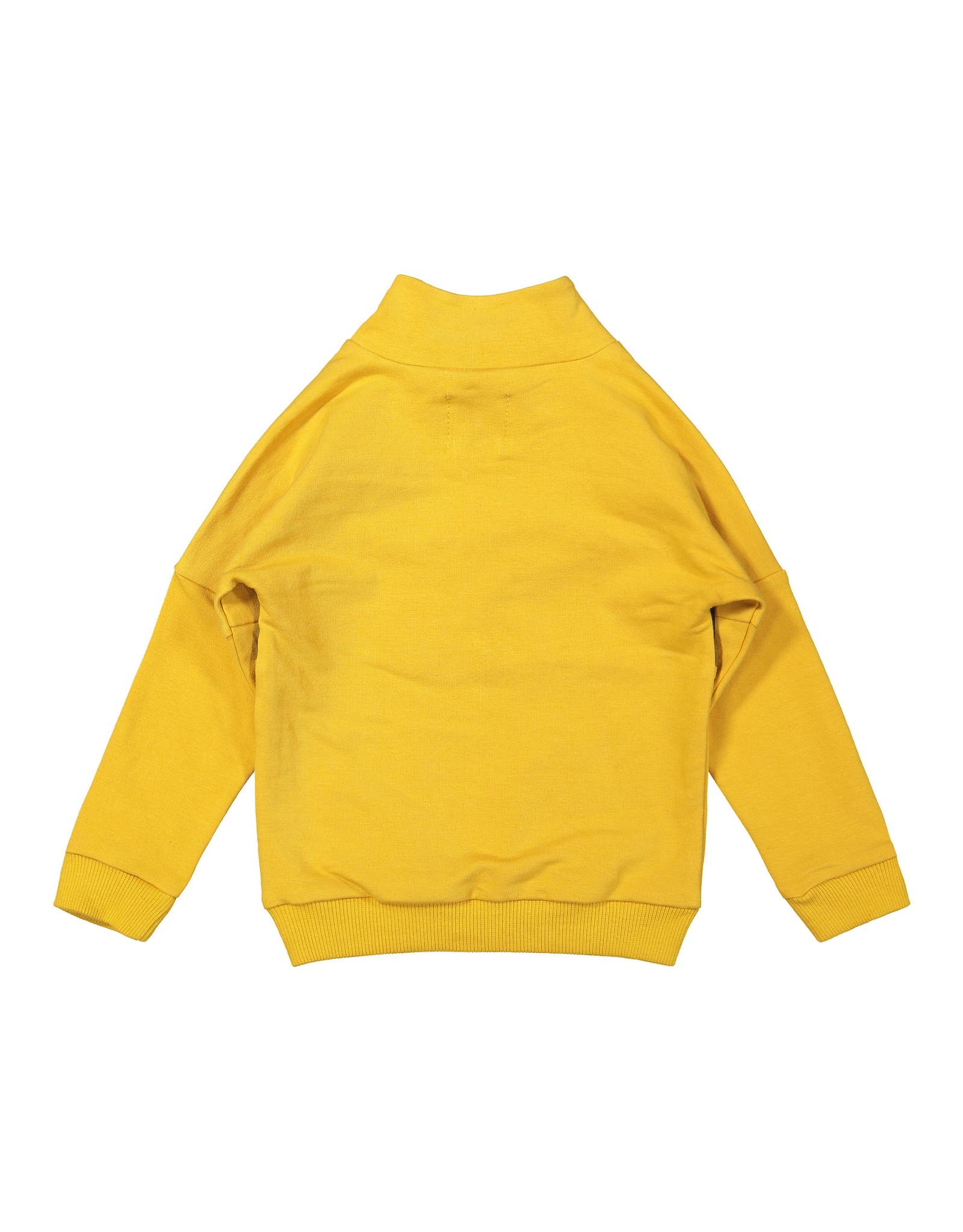 Koko Noko Boys Sweater ls with zipper Ochre