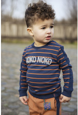 Koko Noko Boys Sweater ls Navy + Camel