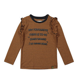Koko Noko Girls T-shirt ls Rusty brown