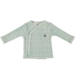 BESS Shirt l.sl. Wrap Striped Dessin Organic NOS
