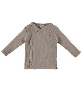 BESS Shirt l.sl. Wrap Rib Sand Organic NOS