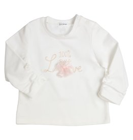 Gymp LONGSLEEVE -100% PURE LOVE - A OFF-WHITE