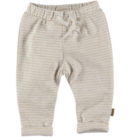 BESS Pants Striped Off White