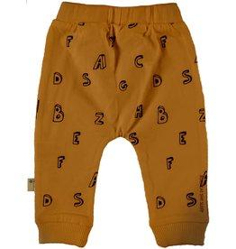 BESS Pants AOP Letters Brown