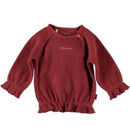 BESS Shirt l.sl. Love You Burgundy