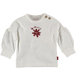 BESS Shirt Flower Embroidery Off White