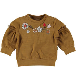 BESS Sweater l.sl. Flowers Brown