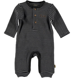 BESS Suit l.sl. Striped Henley Anthracite