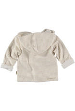 BESS Cardigan Reversible Striped Off White