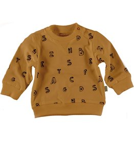 BESS Sweater l.sl. Letters Brown