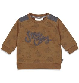 Feetje Sweater AOP - Cool Adventure Bruinmelee