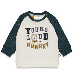 Feetje Longsleeve Young - King Of Cool Offwhite