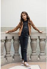 Looxs 10Sixteen G.dyed twill jog jacket Medium brown