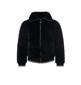 Looxs 10Sixteen fur bomber jacket off black
