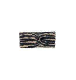 Looxs Little collar hairy knit zebra Antra
