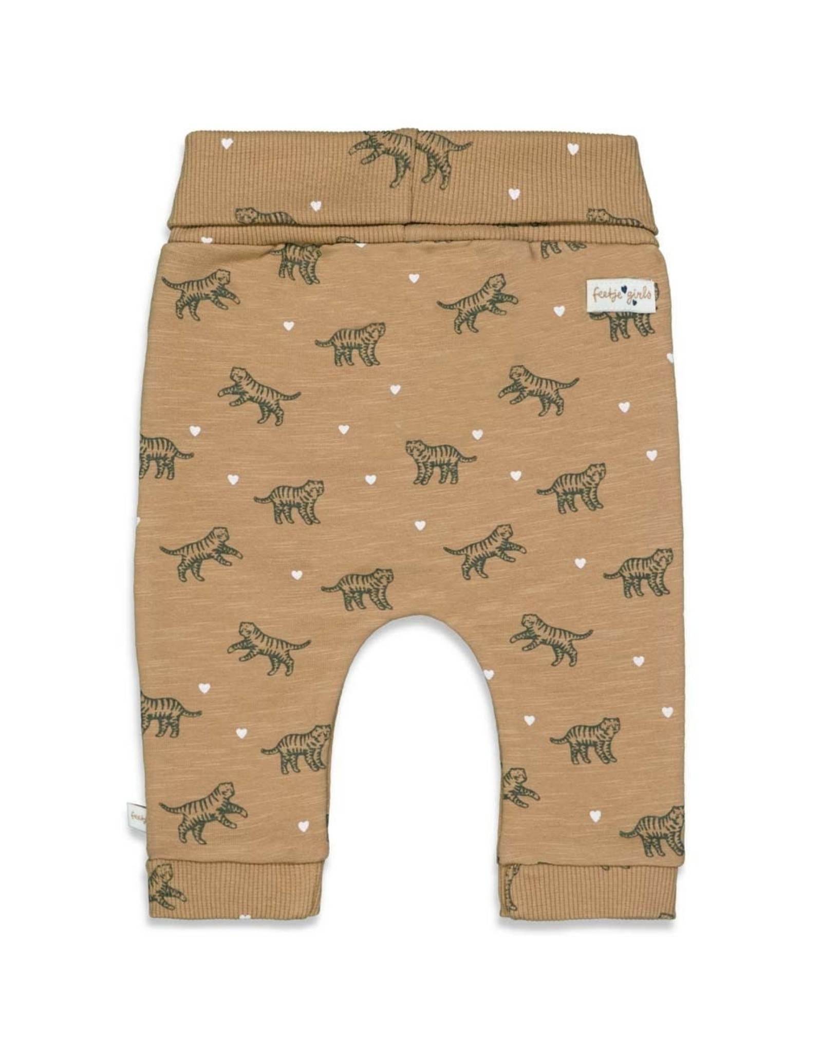 Feetje Broek AOP - Wild At Heart Camel
