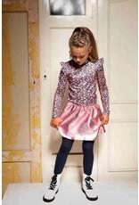 B-nosy Girls spot dress with coated skirt 970 Sporty spickles B.Sporty