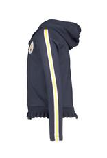 B-nosy Girls cardigan with zipper closure and ruffled rib hem 109 ink blue B.Sporty