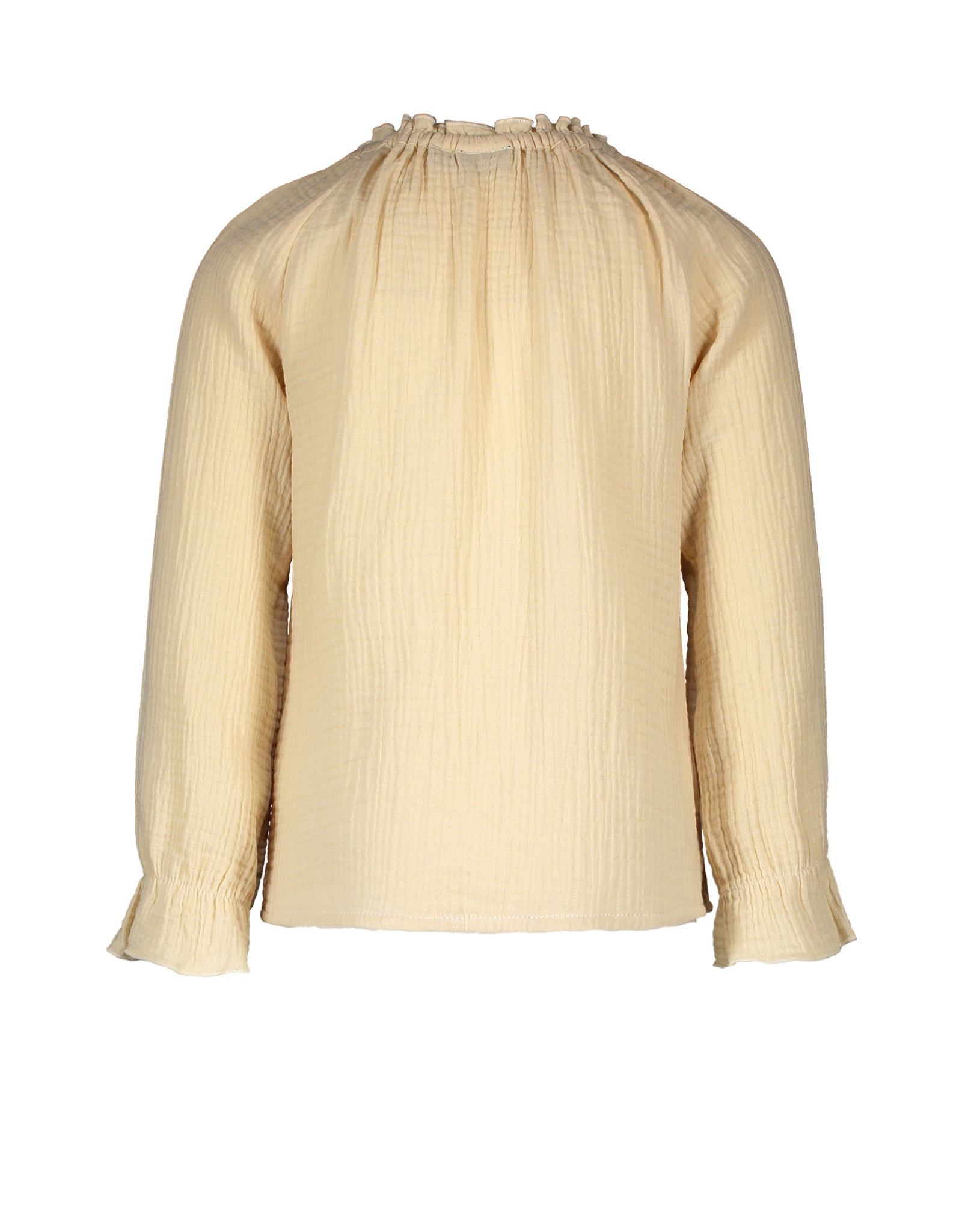 Like Flo Flo girls fancy double fabric blouse Apricot