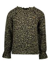 Like Flo Flo girls fancy double fabric blouse Army